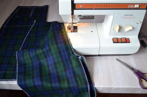 Как стачивать средний шов задней половинки юбки