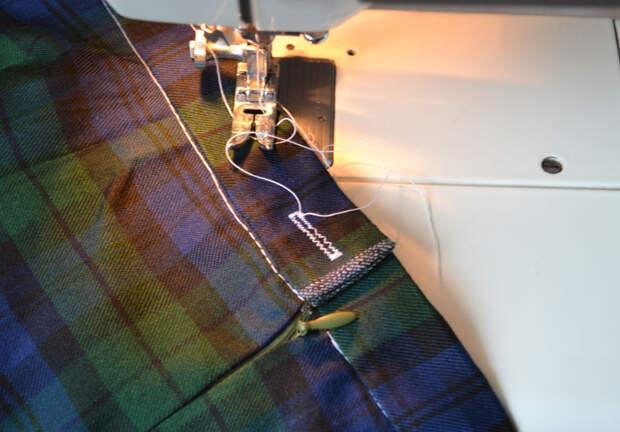 Как сделать застежку на поясе юбки