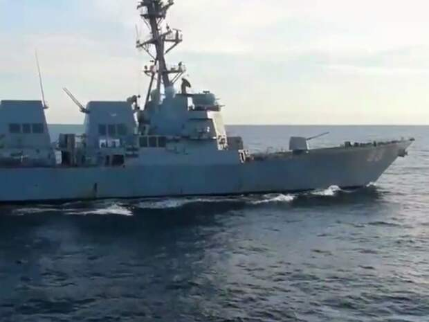 Минобороны сообщило о попытке эсминца США нарушить госграницу РФ