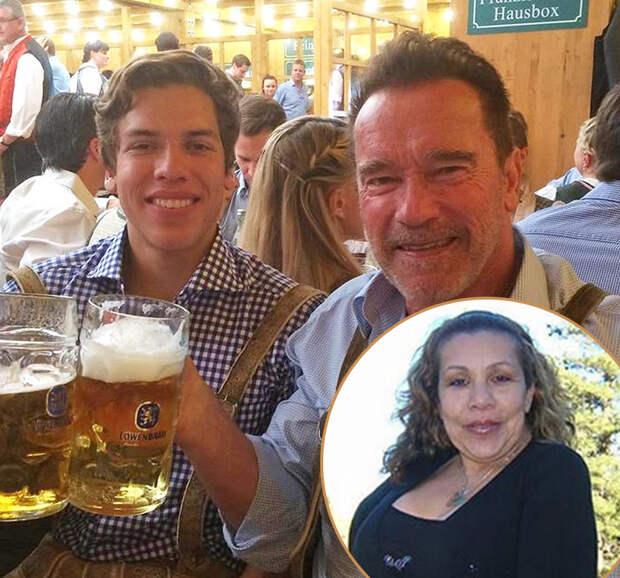 Арнольд Шварценеггер с внебрачным сыном Джозеф