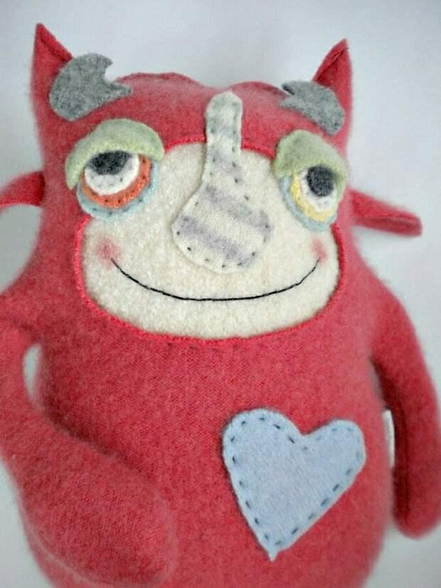 Игрушки из свитеров (подборка)
