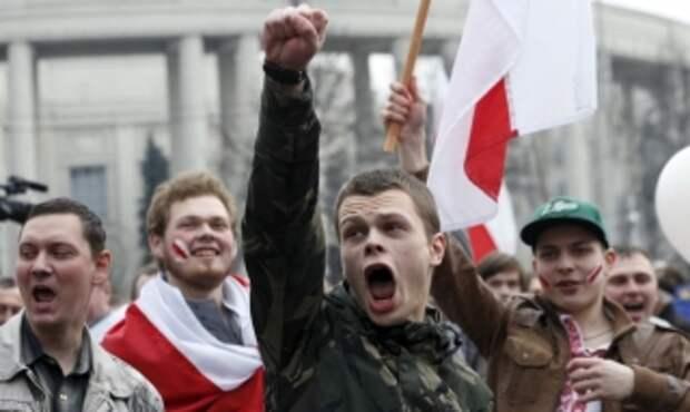 Оппозиционная Беларусь – возвращение к символике Рейхскомиссариата Остланд