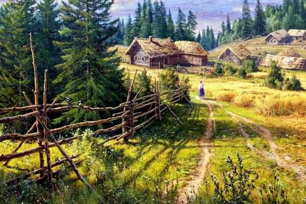Художник Сергей Басов. В деревне.