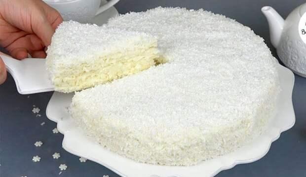 Торт «СНЕЖИНКА» — вкусный, ПРОСТОЙ и нежный как пух