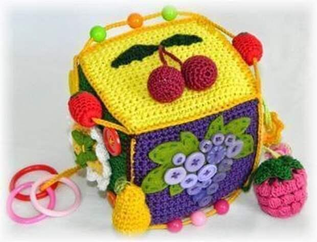Идеи вязаных развивающих кубиков
