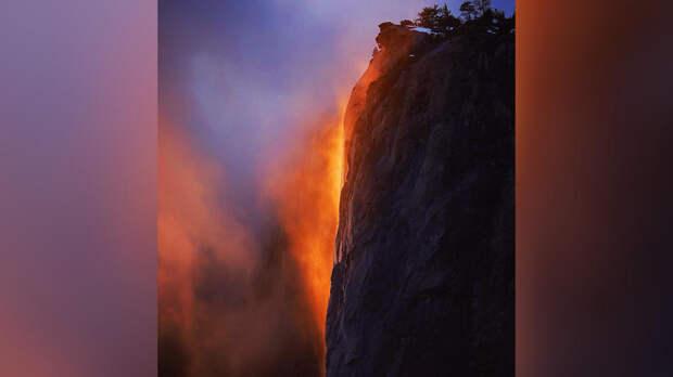 """""""Огненный водопад"""" в Калифорнии восхитил соцсети"""