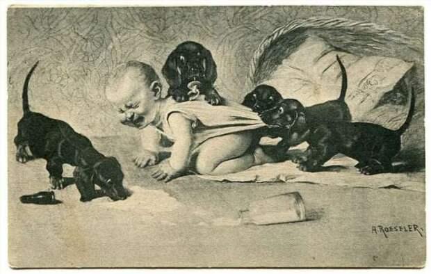 Авторская коллекция самых странных открыток из прошлого (27 фото)