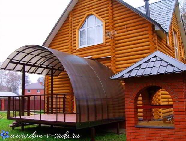Вот как оформить крыльцо частного дома