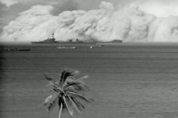 Искусственные цунами от атомной бомбы: видео испытаний
