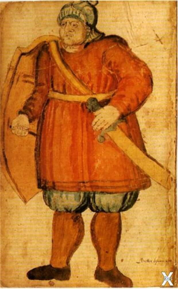 Исландская иллюстрация к саге, XVII век