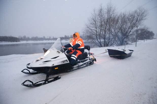 В парке «Кузьминки» для жителей подготовили лыжные трассы