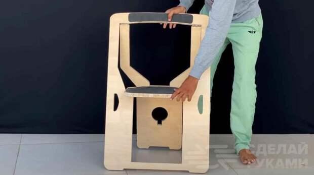 Идея для дома: как сделать практичный складной стул со спинкой