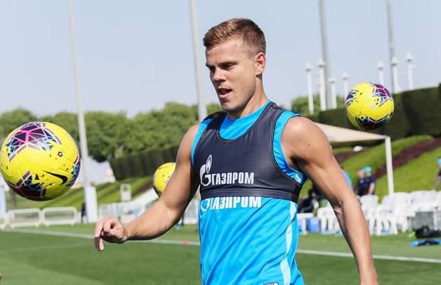 Кокорин забил гол ударом через себя натренировке «Зенита». Видео