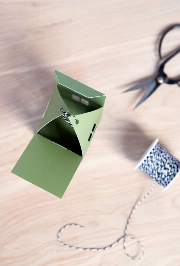 Упаковка подарков или сладостей. В виде домиков. diy