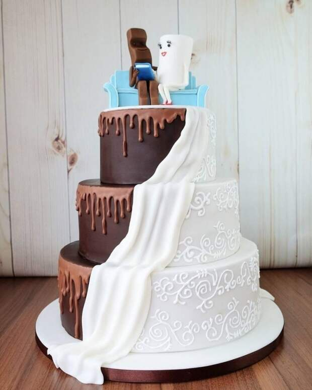 Торт для сладкой свадьбы