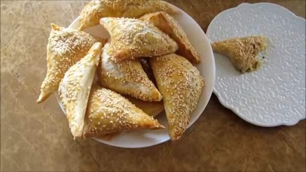 Вкуснейшие бурекасы с сыром и баклажанами Еда, Пирожок, Бурекасы, Выпечка, Рецепт, Видео рецепт, Длиннопост, Другая кухня, Слоеное тесто, Видео