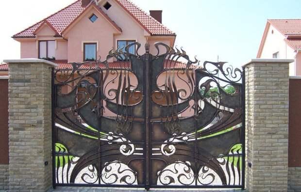 Необычные ворота ворота, дизайн, ковка