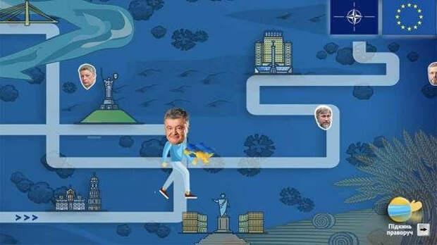 Пользователи сети пришли в ужас от игры с Порошенко в главной роли