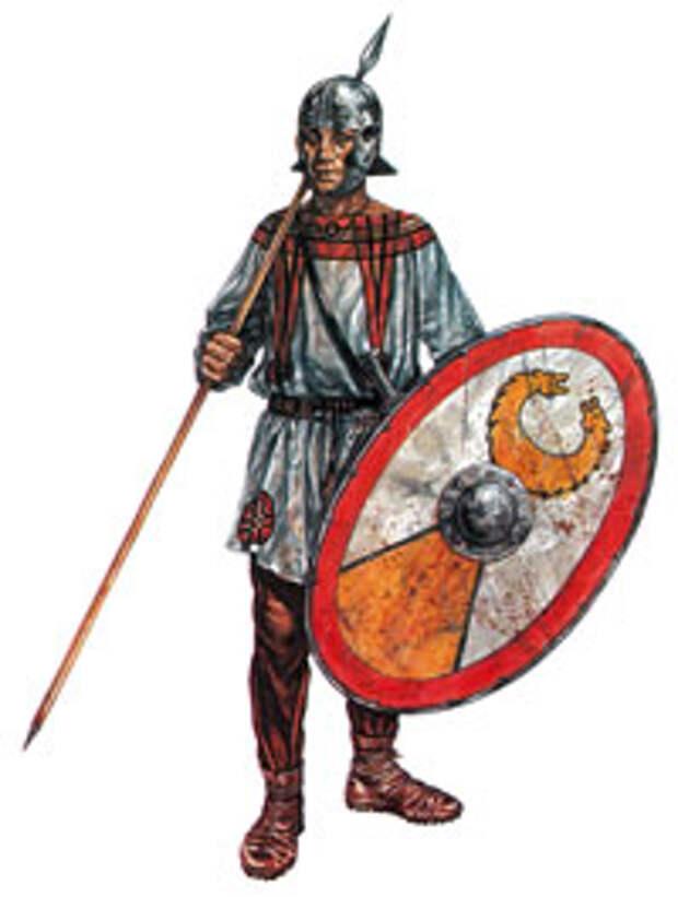 Воин дворцовых вспомогательных войск (auxilia palatinae)