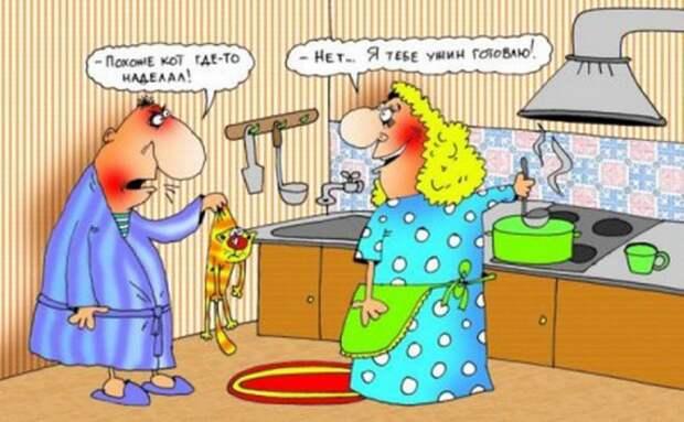 Анекдоты про жену