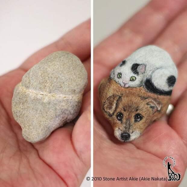 Японка превращает камни в реалистичных животных