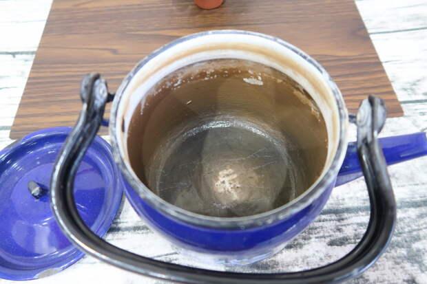 Как убрать накипь с чайника