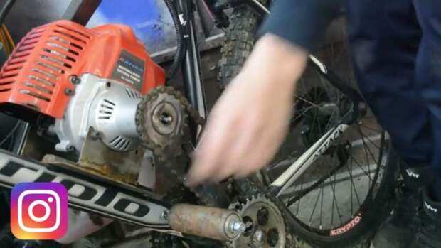 Бензо-велик на мотокосе