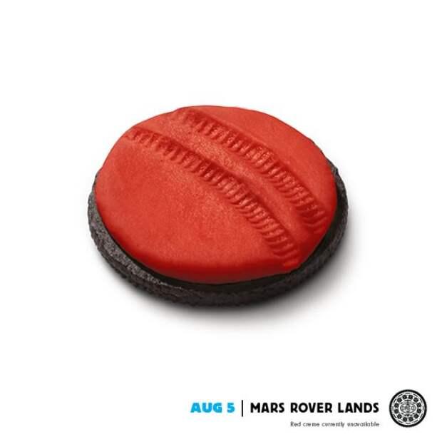 Oreo: Mars Rover, Oreo, DraftFCB, USA, Kraft Foods Inc., Печатная реклама