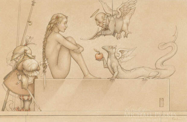 Обнаженная натура в изобразительном искусстве разных стран. Часть 69.