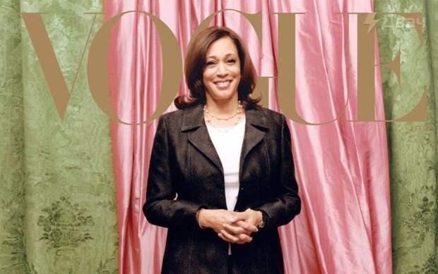 Vogue отбелил на обложке Камалу Харрис