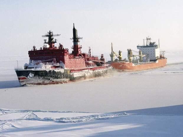 Атомные ледоколы провели китайские суда Tian You, Tian Jian, Tian Hui, Tian En  по Северному морскому пути