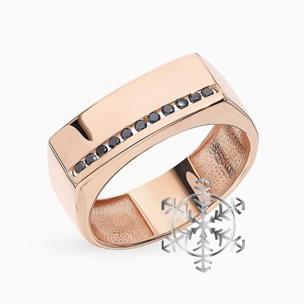 Кольцо SL, желтое золото, бриллианты