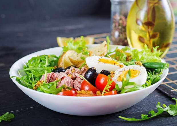 Салат Нисуаз — празднично и вкусно