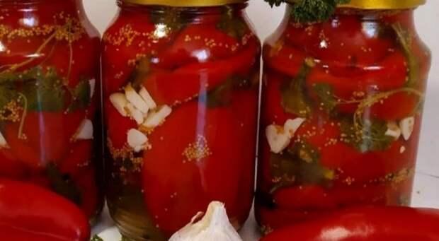 Маринуем болгарский перец на зиму всего за 25 минут
