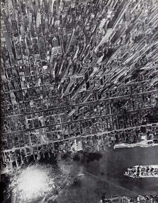 Вид на Манхэттен, Нью-Йорк, США история, люди, редкие, фото