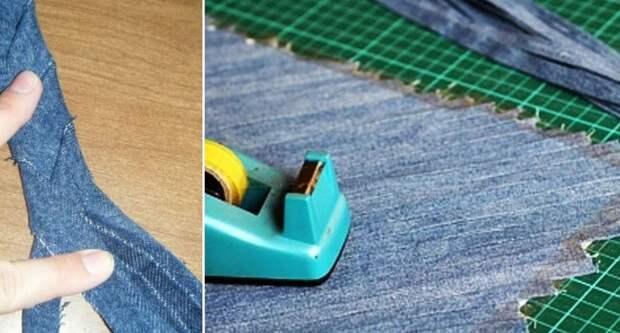 поделки из джинсовых карманов