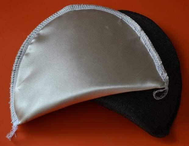 Как обтянуть тканью подплечники для платья