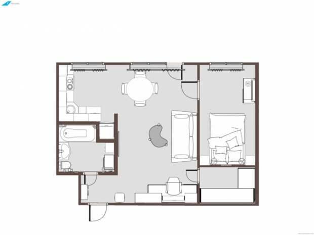 Что можно сделать с убитой двухкомнатной квартирой?