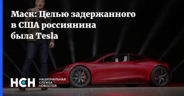Маск: Целью задержанного в США россиянина была Tesla