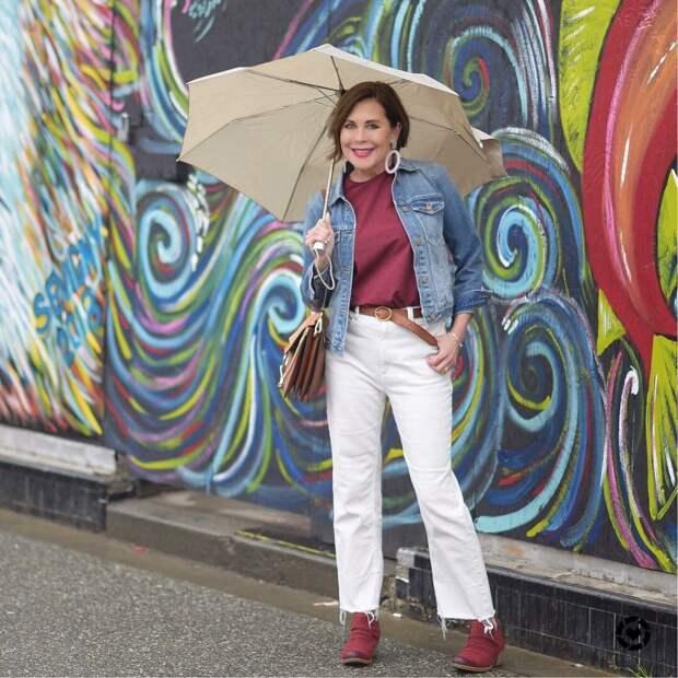 14 примеров с чем носить джинсовку женщине в 40 лет, чтобы выглядеть эффектно