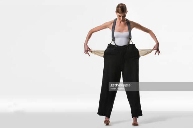 Woman Showing Empty Pockets