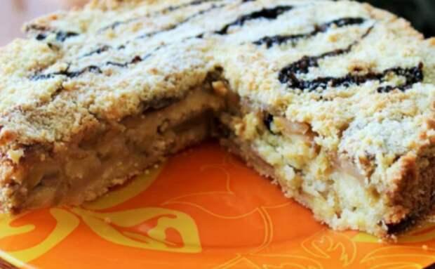 Яблочный пирог за 7 минут. Так быстро выпечку я еще не готовила