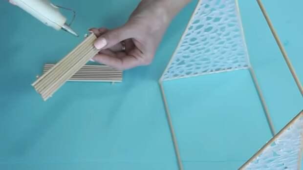 Гениальная поделка, а нужны только деревянные шпажки и клей