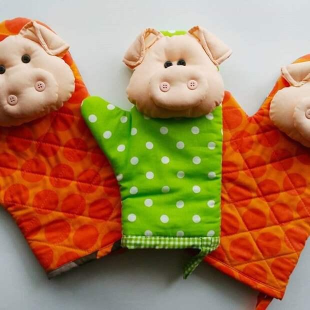 Прихватка «Свинка» СКОРО НОВЫЙ ГОД !  Идеи для вдохновения!