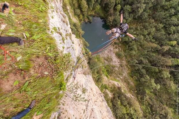 ropejumping28 Прыжок в Сухое озеро