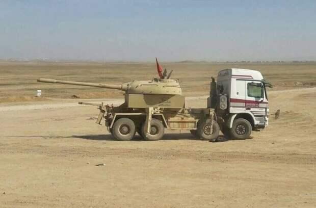 А потому что русский солдат соберет пушку из чего угодно даже в пустыне!