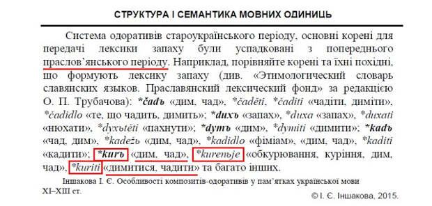 "Этимология глагола ""курить"""