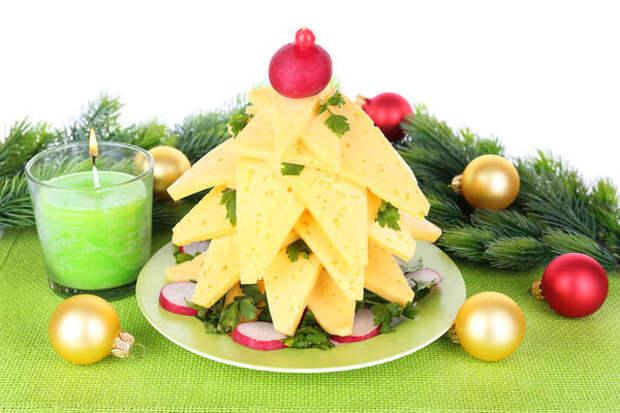 Сырная нарезка в новогоднем исполнении