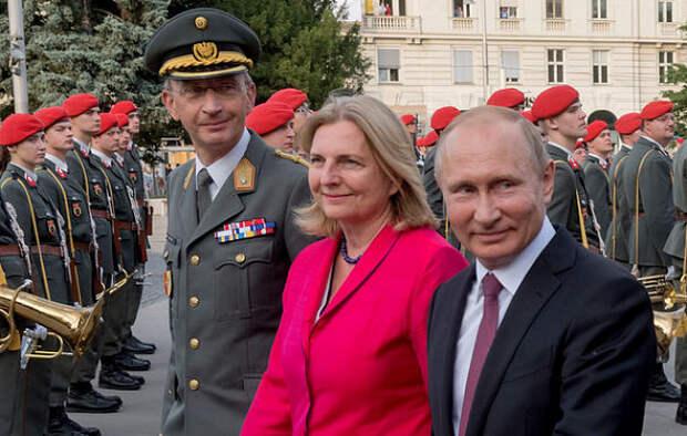 Путин опоздал на свадьбу главы МИД Австрии