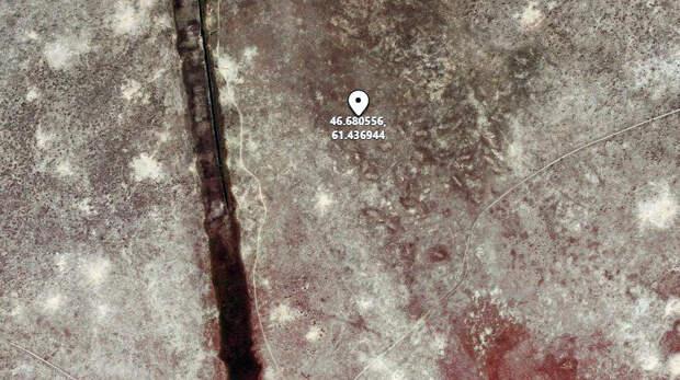 Геоглиф на дне Аральского моря